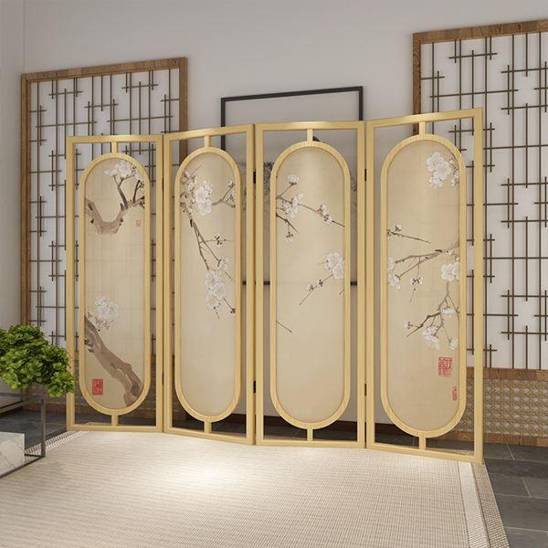 屏風中式屏風隔斷客廳大廳玄關創意裝飾時尚現代簡約實木折疊移動折屏