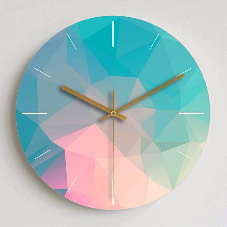 掛鐘現代簡約夢幻鐘錶客廳掛鐘創意北歐靜音個性臥室裝飾大號石英時鐘