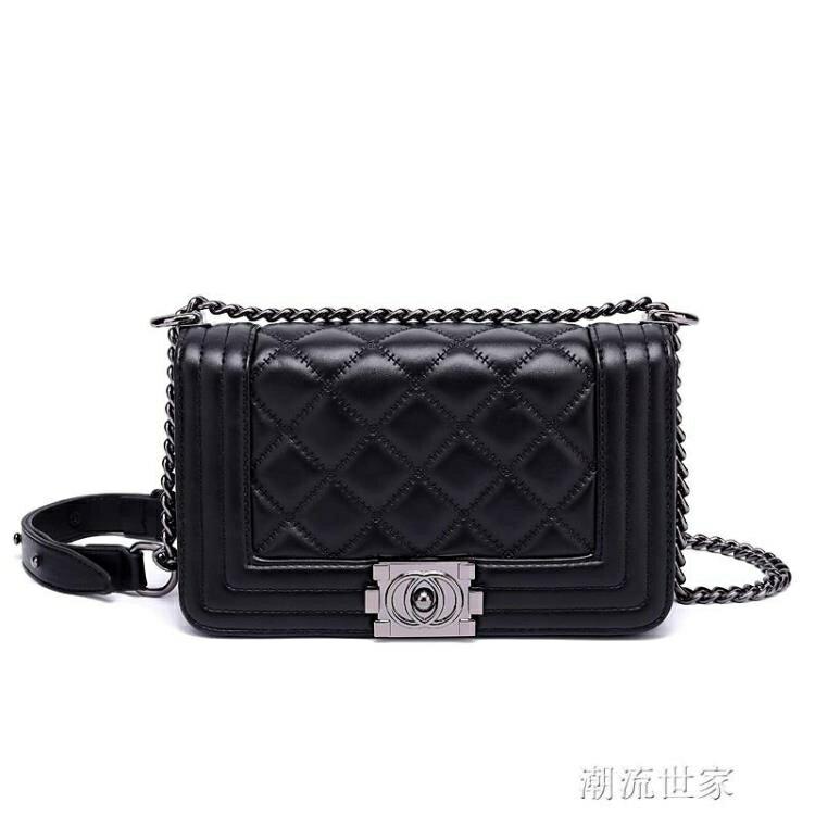 香港小ck包包女2020新款潮韓版菱格?條包女士小包包單肩包斜挎包