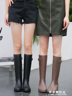 雨鞋 輕量簡約時尚雨鞋女成人雨靴防水高筒水靴防滑膠鞋女士水鞋