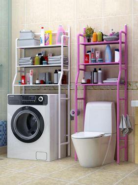 衛生間浴室廁所置物架落地免打孔洗衣機收納神器馬桶架轉角置物架