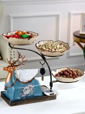 歐式多功能紙巾盒家用客廳茶幾裝飾美式餐桌抽紙盒遙控器收納擺件