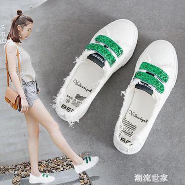 淺口小白鞋女2020年新款鞋子女春夏季透氣百搭平底ulzzang帆布鞋