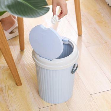 家用大號有蓋分類干濕垃圾桶客廳臥室廁所衛生間廚房可愛歐式帶蓋