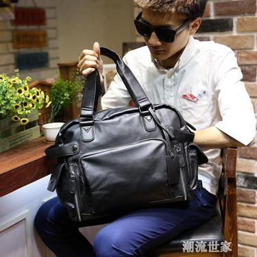 男包休閒單肩包斜挎包手提包男士皮包背包商務旅行包潮大容量新款