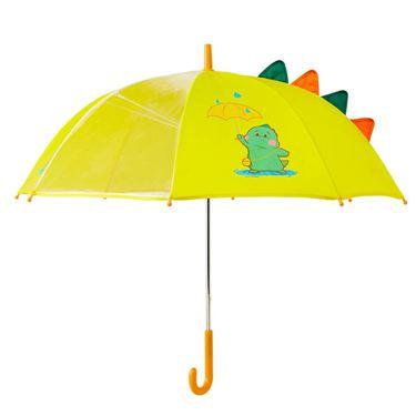 恐龍兒童雨傘女男童幼兒園輕便可愛小孩學生透明長柄超輕寶寶雨傘