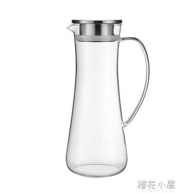 心選高硼硅玻璃涼水壺冷水壺套裝耐高溫泡茶壺套裝居家物語生活館