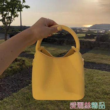水桶包 包包女包2020新款夏天小包ins時尚潮百搭斜背側背手提水桶包居家物語生活館