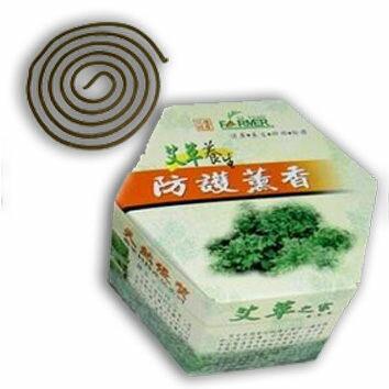 【花壇艾草】艾草蚊香艾草天然防護薰香環保盒裝32卷盒