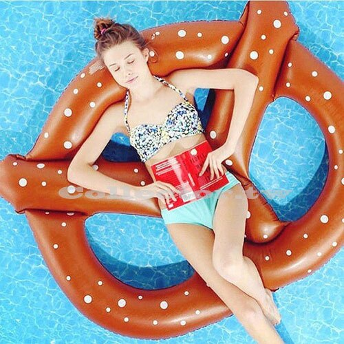 【C16080203】巧克力點點蝴蝶餅乾造型泳圈-150公分 成人充氣浮圈救生圈加大加厚泳圈