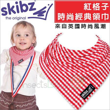 +蟲寶寶+【英國skibz】 網路暢銷款!時尚經典領巾/紅格子時尚經典領巾《現+預》
