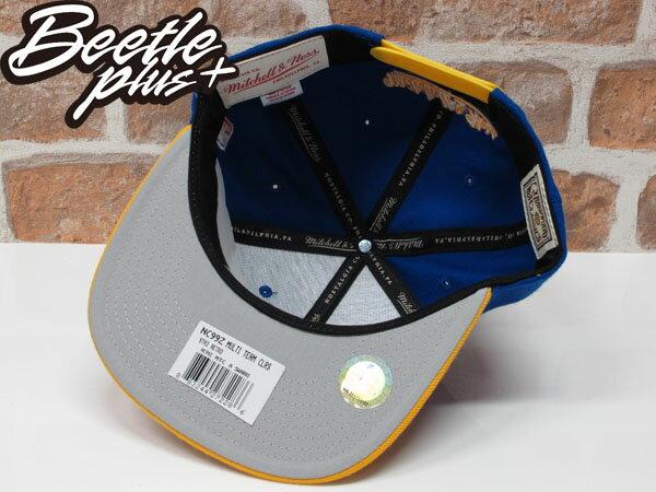 BEETLE PLUS MITCHELL&NESS NBA WARRIORS 美國職籃 金州 勇士 文字 CURRY 柯瑞 藍黃 SNAPBACK 帽 舊金山 LOGO 後扣 棒球帽 MN-306 1