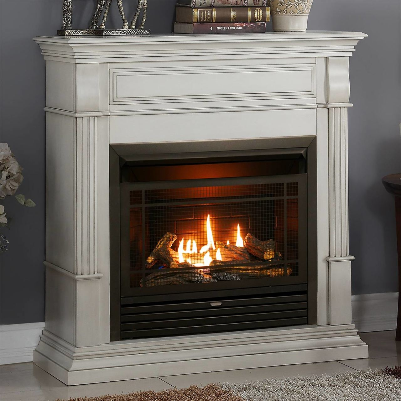 Gas Fireplace: Factory Buys Direct: Duluth Forge Dual Fuel Ventless Gas