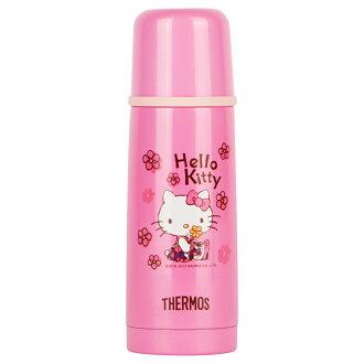 THERMOS膳魔師 Hello Kitty不鏽鋼真空保溫瓶350ml【FDX-350-RBK】(MF0388)