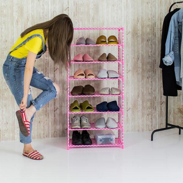簡易組合│鞋架 鞋櫃 DIY組合鞋架 簡約八層鞋架