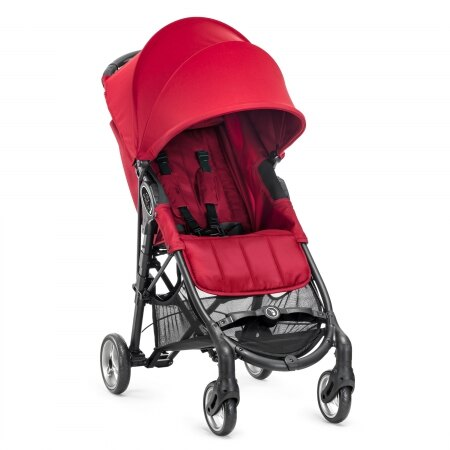 【贈杯架+收納袋】美國【Baby Jogger】city mini ZIP 輕運動推車(紅) 1