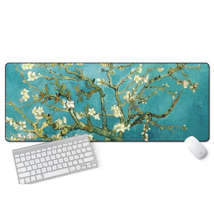 滑鼠墊 游戲超大鼠標墊鎖邊中國風加厚可愛蘭亭序勵志筆記本電腦辦公桌墊