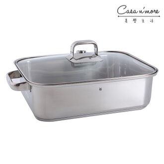 WMF萬用健康鍋 (大)、不鏽鋼鍋,(三層合金、不銹鋼鍋、可當蒸鍋、油炸鍋、 炒鍋、平底鍋) 附蒸籠