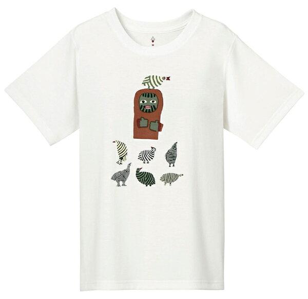 【mont-bell日本】WICKRON短袖排汗衣排汗T恤機能衣鳥と山男女款白色/1114175