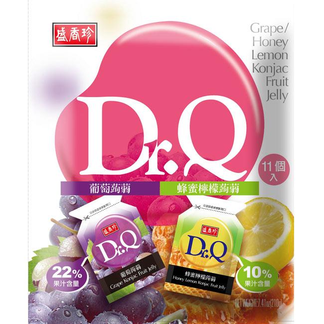 《盛香珍》盛香珍 Dr. Q 雙味蒟蒻 (葡萄+蜂蜜檸檬口味)210gX10包(箱)
