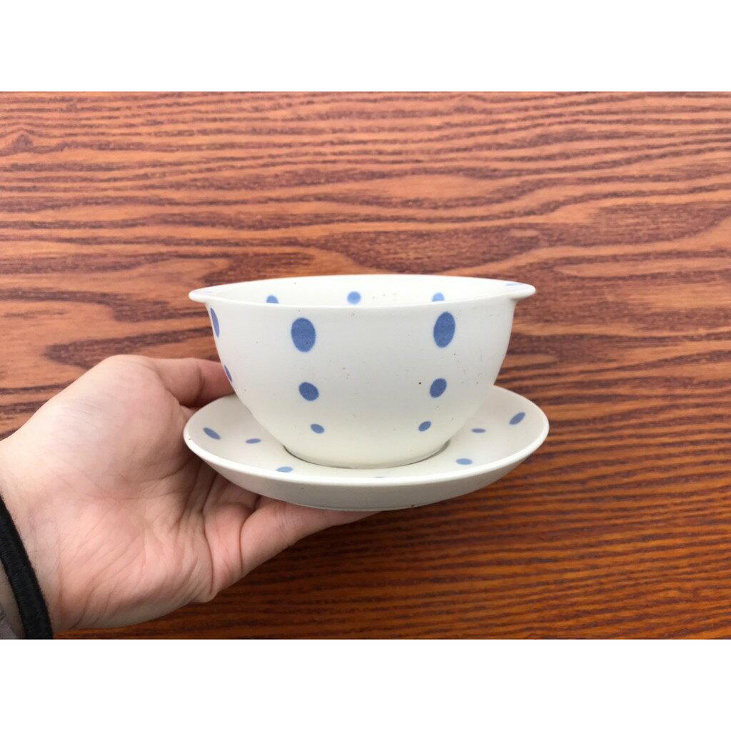 小糖瓷⎥日本製 雙耳陶味點點碗碟組 1