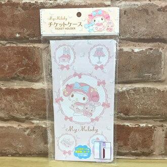 【真愛日本】17080500003 膠皮護照卡片套-美樂蒂 三麗鷗 melody 美樂蒂 卡片收納包 居家生活