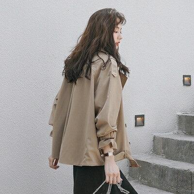 風衣 短款風衣女春秋裝2021年新款韓版寬鬆小個子百搭學生外套女ins潮 家家百貨