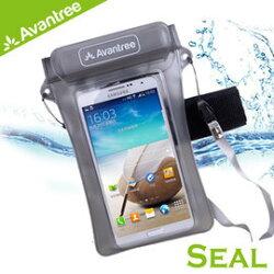 志達電子 KSWP-009 Avantree Walrus 運動音樂手機防水袋(可接防水耳機) 附臂帶/頸掛式吊繩 iPhone5/M8/S5/Z2 防水套/臂套 游泳/浮潛皆適用