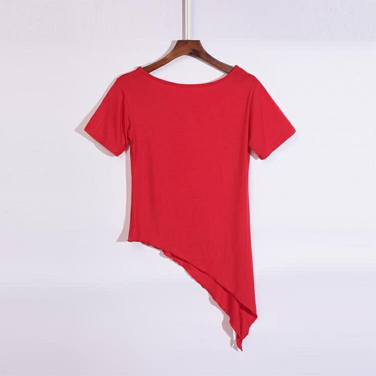 2020跳舞服裝女廣場舞上衣短袖新款夏季中老年莫代爾舞蹈練功衣服