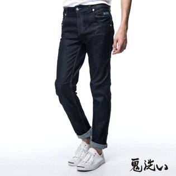 【春夏新品】鬼洗COOLMAX低腰直筒褲(原生藍)-BLUEWAYONIARAI鬼洗