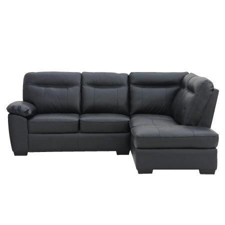 ◎(OUTLET)半皮左躺椅L型沙發 STONE BK 福利品 NITORI宜得利家居 1