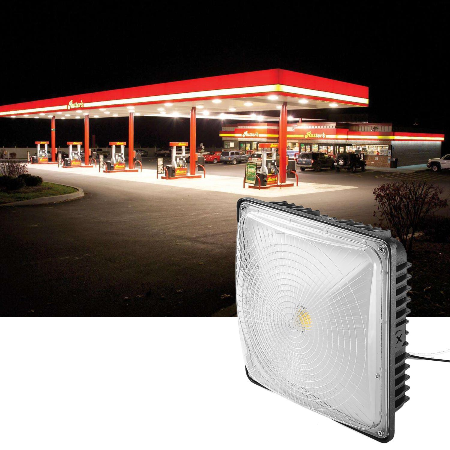 50W LED Square Canopy Ceiling Light Lamp Galley Garage Bay Light 4