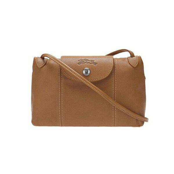 LONGCHAMP 1061女款女包羊皮單肩斜挎包(棕色)