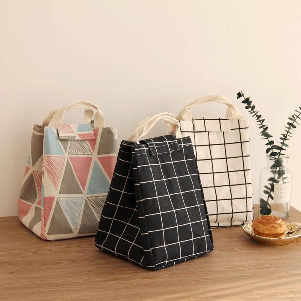 時尚日式保溫便當袋4手提便當包飯盒袋保溫袋