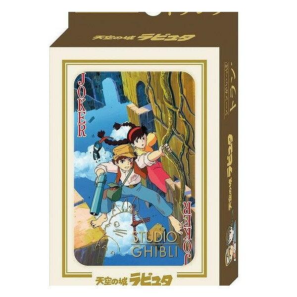 【真愛日本】14072800021壓克力盒撲克牌-希達與巴魯 守城機器人 LAPUDA 天空之城