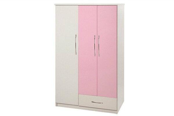 【石川家居】826-02(粉紅白色)衣櫥(CT-107)#訂製預購款式#環保塑鋼P無毒防霉易清潔