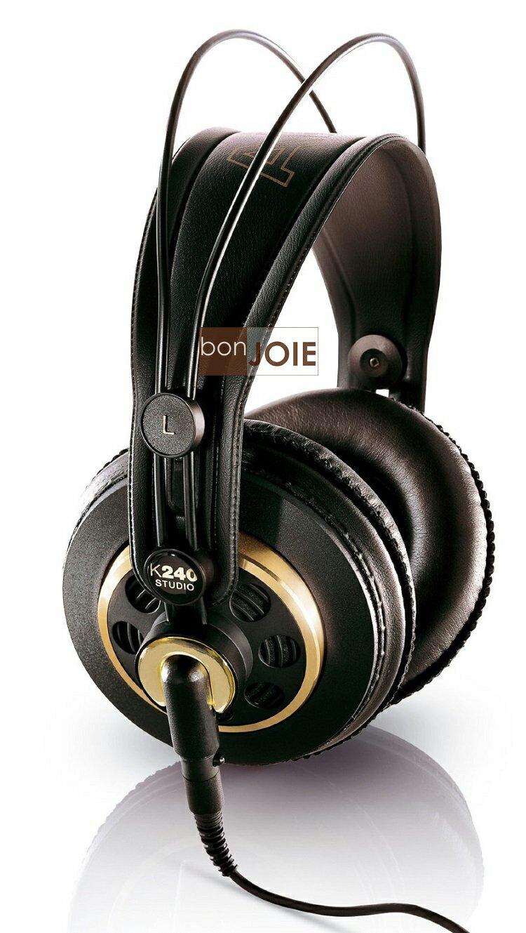 ::bonJOIE:: 美國進口 AKG K-240 錄音室專業耳機 (全新盒裝) Semi-Open Studio Headphones K 240 K240 監聽耳機