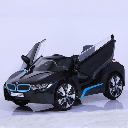【淘氣寶寶】原廠寶馬BMW I8 雙開門 單驅 兒童電動車(附遙控)(黑)W480QG(緩起步)【贈Kids II Oball 洞動足球】