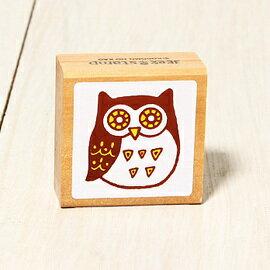 「Kodomo小孩牌」北歐系列小印章-北歐貓頭鷹