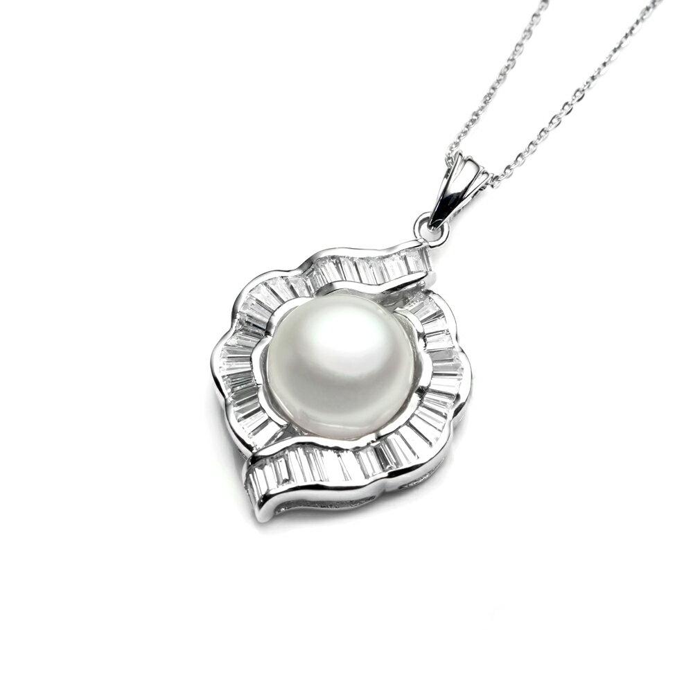 大東山珠寶  永恆典範  天然珍珠925銀項鍊 1