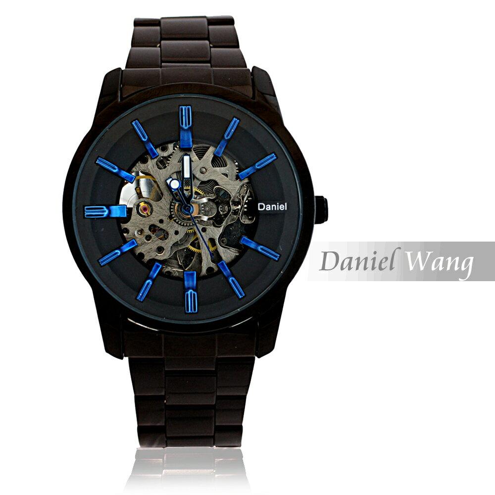 Daniel Wang DW-3142-IP 絢麗閃電雙面鏤空指針式全自動機械錶 2