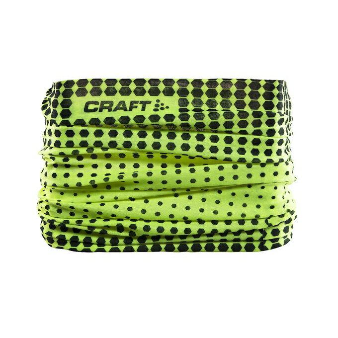 [瑞典Craft] 運動 腳踏車 登山 魔術頭巾 防曬 吸汗 透氣 快乾 1904092-2851螢光