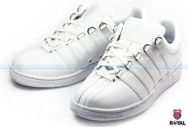 K-SWISS 新竹皇家 CLASSIC VN 白色 皮質 輕量 休閒鞋 男款 NO.A6098