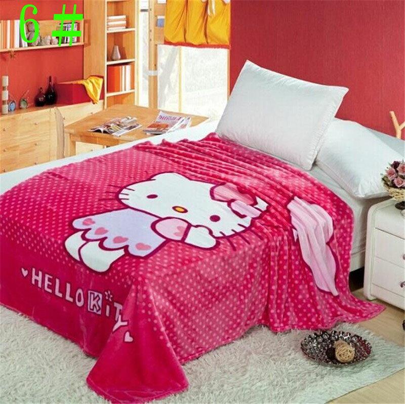 卡通法蘭絨毯史努比.kitty.維尼熊.小叮噹.海綿寶寶,大眼蛙.超人 空調毯 毛毯 絨毯子 可當夏被尺寸:150*200 cm 重量約 650 g-7101001