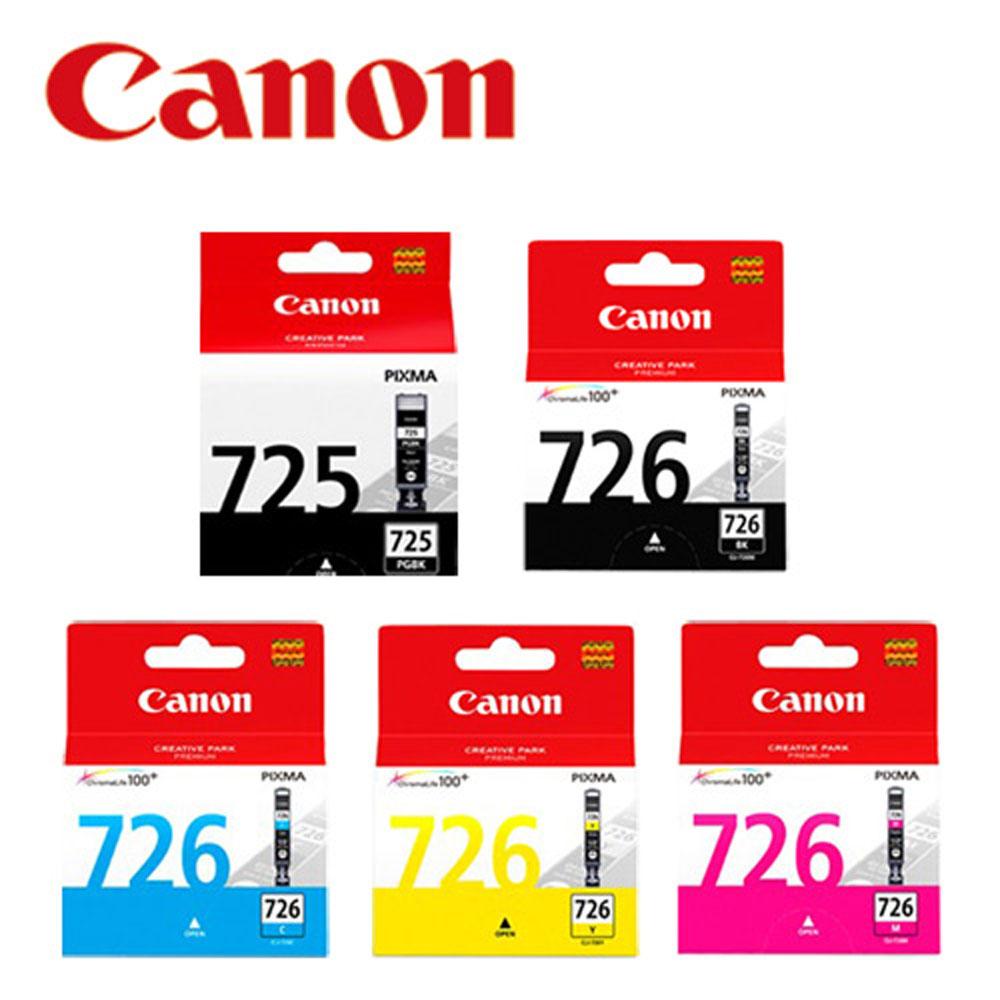 CANON PGI-725BK+CLI-726BK/C/M/Y 原廠墨水5入組合(2黑3彩)