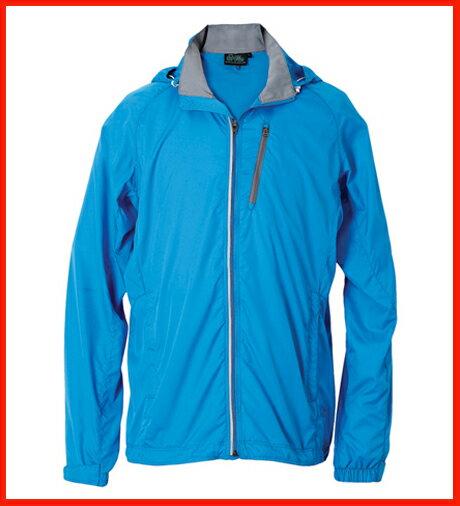 男抗UV單層風衣 - 水藍 3459 0