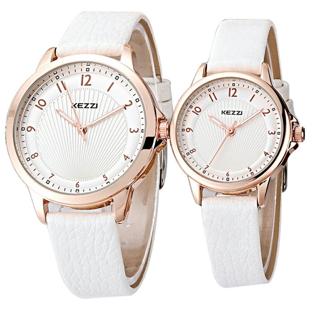 KEZZI 珂紫 K-1164 典雅數字設計精緻情侶對錶 1