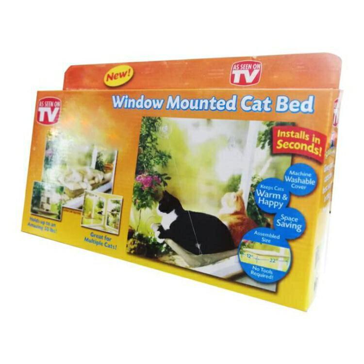 猫吊床-貓咪吊床強力吸盤式掛窩曬太陽掛床貓咪窗邊觀景四季貓床貓咪用品   時尚學院