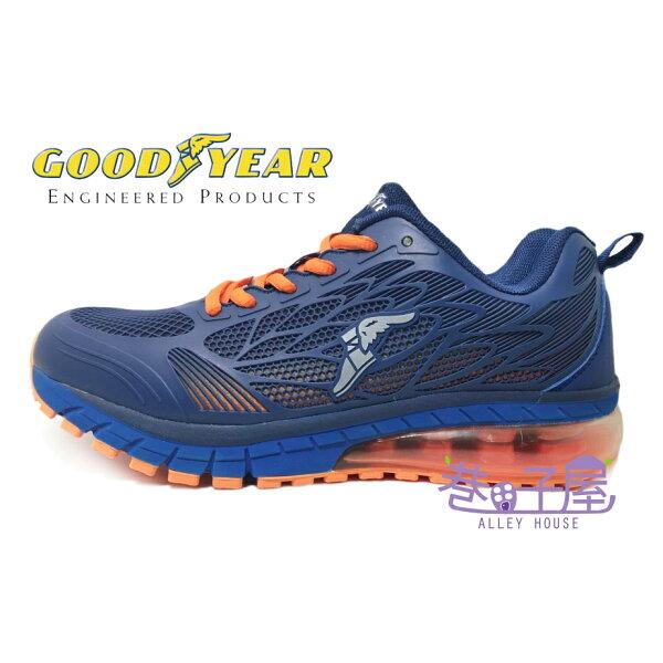 【巷子屋】GOODYEAR固特異光速之翼男款KPU超緩震大氣墊運動慢跑鞋[73156]藍超值價$690