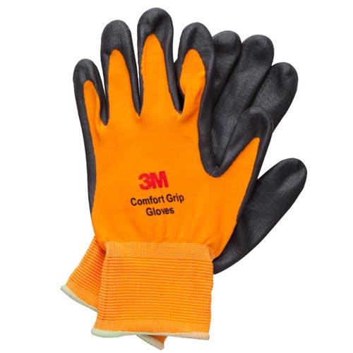 3M亮彩舒適型止滑耐磨手套橘色L